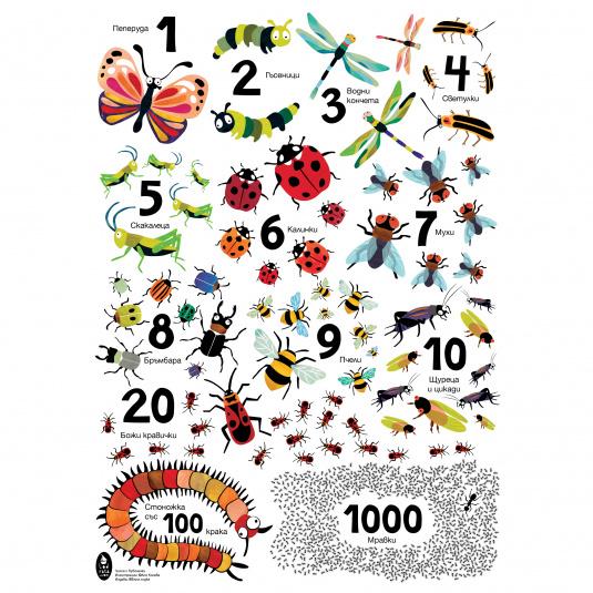 Плакат - числа с буболечки